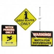 """Halloween Warning Signs ~ 15"""""""