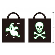 Halloween Glow-in-the-Dark Trick or Treat Bag ~ 2 per pack