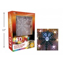 Christmas 8-LED Color Changing Snowflake Tree Topper