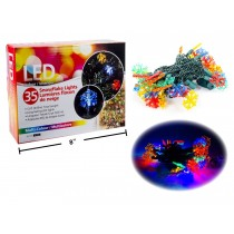 Christmas LED Snowflake Multi Colored Light Set ~ 35/pk