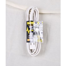 Indoor Extension Cord - Triple Outlet ~ 3M/9.8'