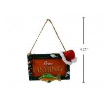 "Christmas Polyresin ""Gone Fishing"" Tree Ornament"