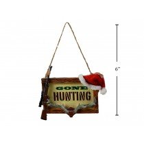"Christmas Polyresin ""Gone Hunting"" Tree Ornament"