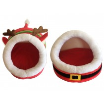 Christmas Plush Pet Bed ~ 2 assorted