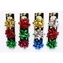 "Christmas Star Bows - 4.5"" ~ 3 per pack"
