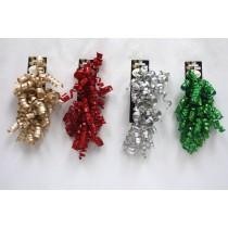Christmas Curl Swirl Laser Bow ~ 2 per pack