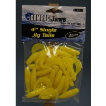 "Compac 4"" Single Jig Tails ~ Yellow"