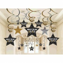 Graduation Mega Value Pack Swirl Decorations ~ 30 per pack