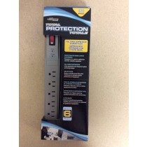 Power Bar w/Surge Protection ~ 6 outlets & 6' cord