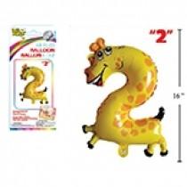 """Air Filled Balloon - 1"""" ~ Giraffe #2"""