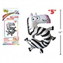 """Air Filled Balloon - 1"""" ~ Zebra #5"""