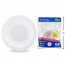 White Plastic Bowls -12oz ~ 12 per pack