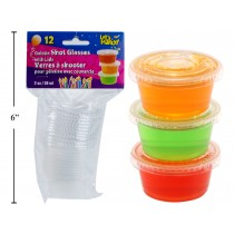 Clear Plastic Gelatin Shot Glasses - 2oz ~ 12 per pack