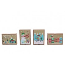 Christmas Kraft Contemporary Boxed Cards ~ 12 per pack