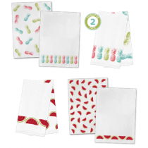 Printed Flour Sack Kitchen Towels - Tropical ~ 2 per pack
