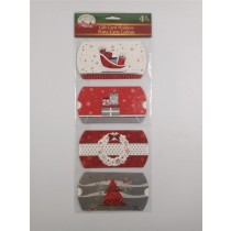 Christmas Pillow Box Gift Card Holders ~ 4 per pack
