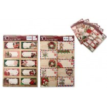 Christmas Foil Sticker Tags ~ 10 per pack