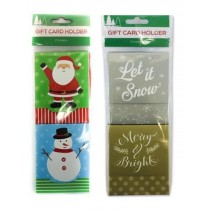 "Christmas Gift Card Holder with Velcro - 3.25"" x 4.25"" ~ 2 per pack"
