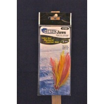 Compac Mackerel Feather Bait ~ 3/string