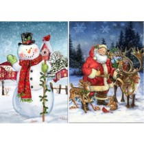 Christmas LED Light-Up Canvas Banners ~ 30""