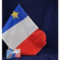 """Acadian Flag for Car Windows ~ 12"""" x 18"""""""