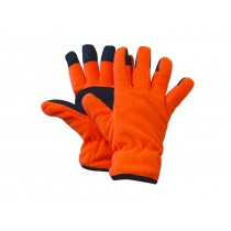 Fl. Orange Polar Fleece Gloves