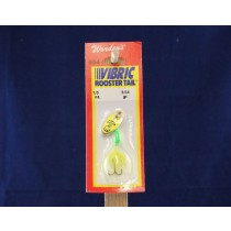 Vibric Rooster Tail - 1/8oz ~ Chartruese Mylar