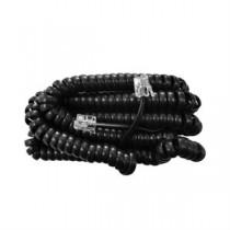 Telephone Handset Cord - Black ~ 25' / 7.62M
