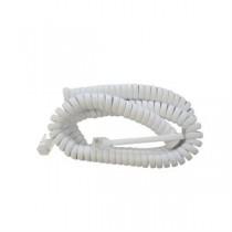 Telephone Handset Cord - White ~ 25' / 7.62M