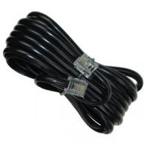 Telephone Line Cord - Black ~ 25' / 7.62M