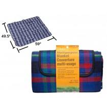 """Multipurpose Blanket with Waterproof PEVA Backing ~ 59"""" x 49.25"""""""
