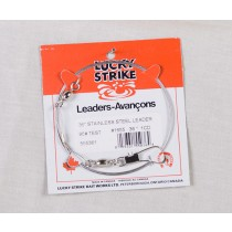 Lucky Strike Stainless Steel High Test Leaders ~ 24""