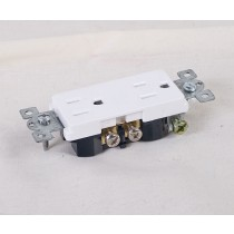 Decorative Duplex Outlet ~ White