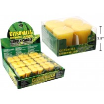 Citronella Votive Candles ~ 4 per pack