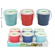 Citronella Candle in Painted Metal Bucket ~ 225gram