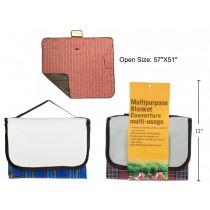 """Multipurpose Blanket with Waterproof PEVA Backing ~ 57"""" x 51"""""""