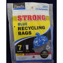 Recycling Bags - Blue ~ 7 per pack