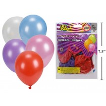 "12"" Round Balloons - Assorted Metallic Colors ~ 12 per pack"