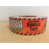 "Gorilla Hi Vis Blaze Orange Tape ~ 1.88"" x 35yds"