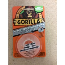 "Gorilla Mounting Tape ~ 1"" x 60"" ~ holds up to 10lbs"