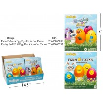 Dudley's Egg Decorating Dye Kits ~ Flashy Foil / Funn-E-Faces