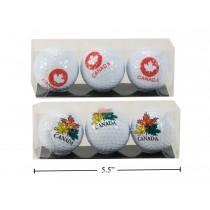 Canada Golf Balls ~ 3 per pack