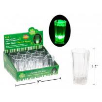 St. Patrick's Day LED Light-Up Shot Glasses ~ 12 per display