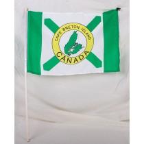 "Cape Breton Flag w/Stick ~ 12"" x 18"""