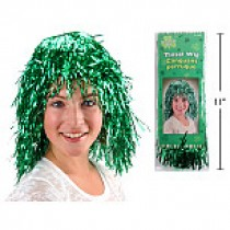 St. Patrick's Day Tinsel Wig