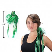St. Patrick's Day Hair Twist w/Ponytailer
