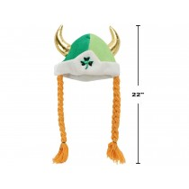 St. Patrick's Day Viking Hat with Braided Pigtails