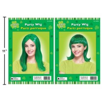 St. Patrick's Day Adult Green Party Wig
