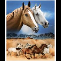 Wild Horses Micro Mink Throw