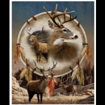 Wild Elks Micro Mink Throw